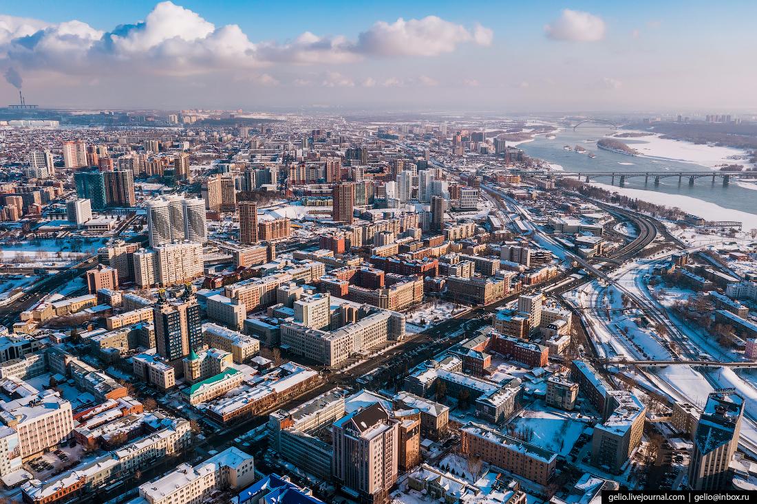 Snow Covered Metropolis In Siberia