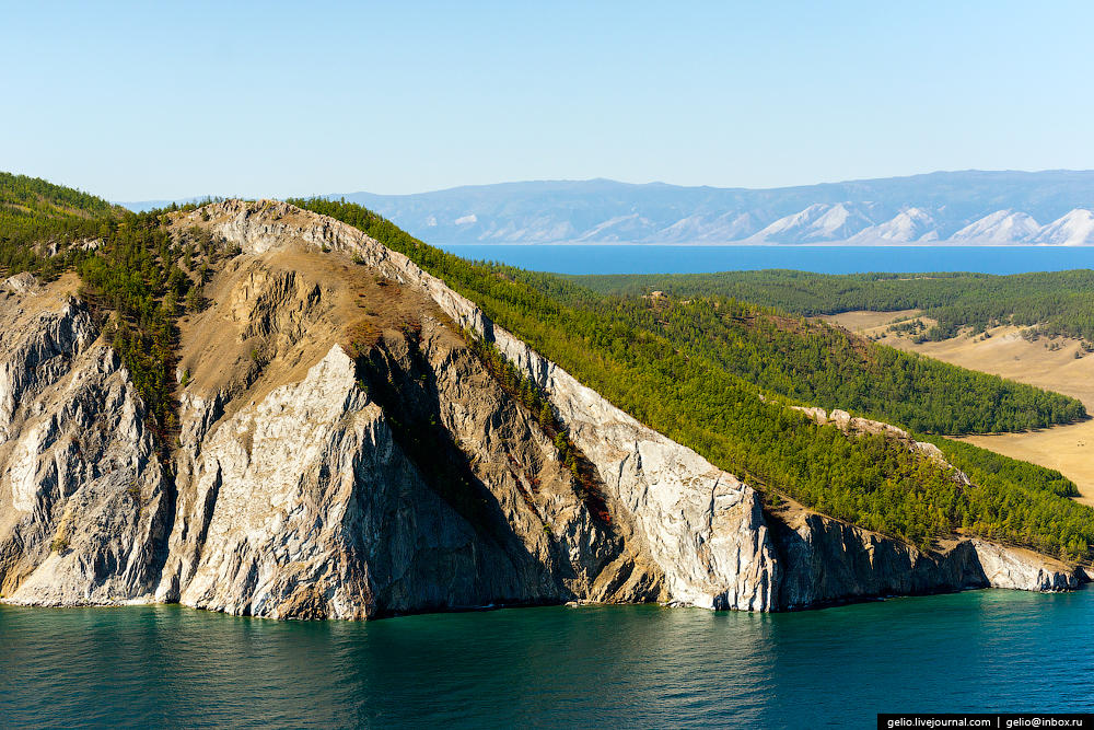 Helicopter Flight Over Lake Baikal