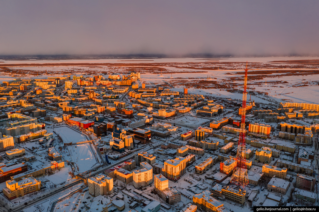 The Largest City in the Permafrost Zone Photographed From the Height