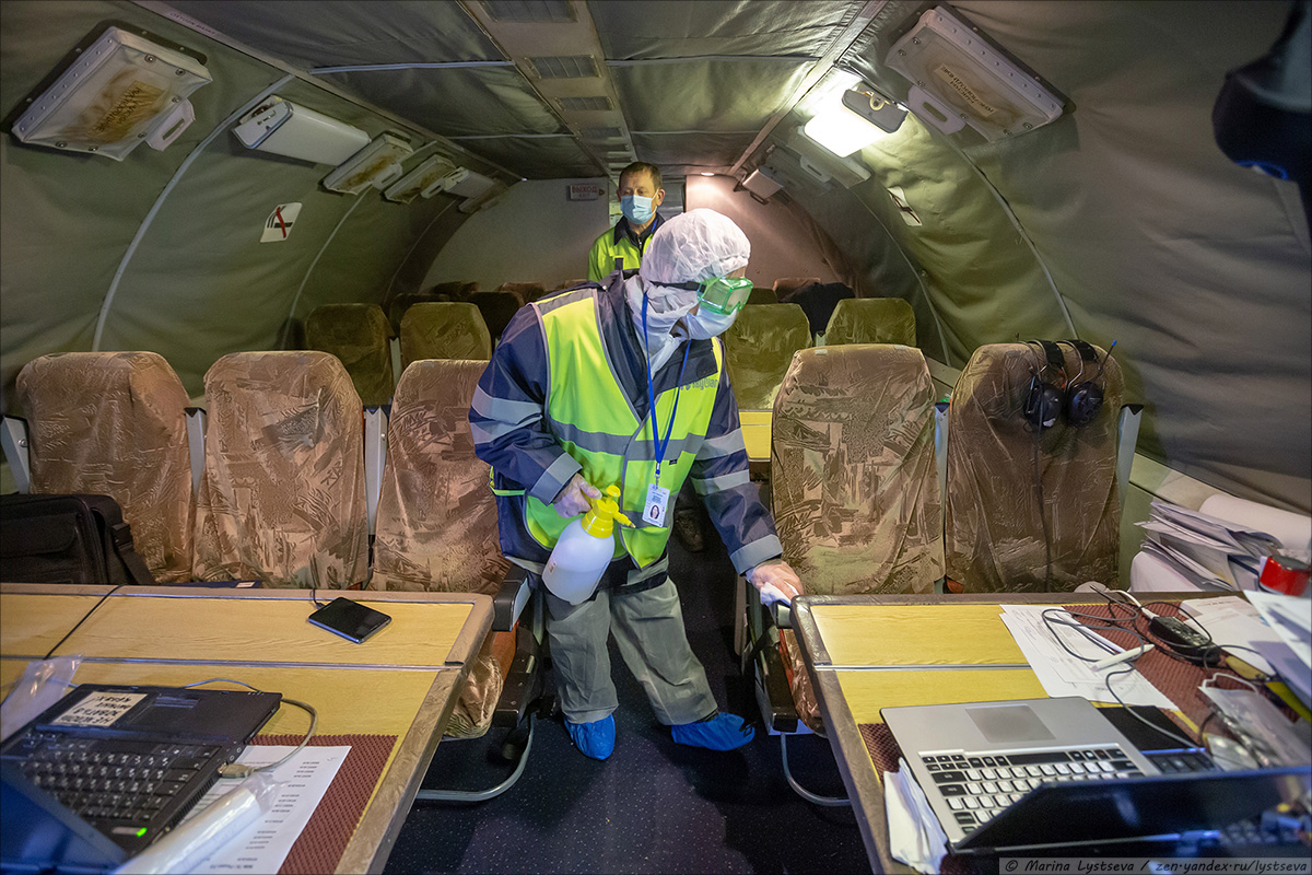 Passenger Aircraft Disinfection In Russia