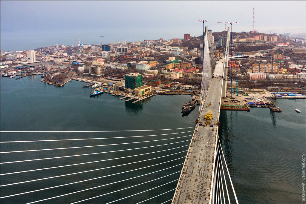 Over the Roofs And Bridges of Vladivostok