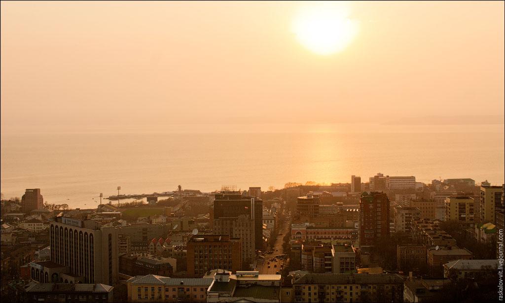 Over the Roofs And Bridges of Vladivostok