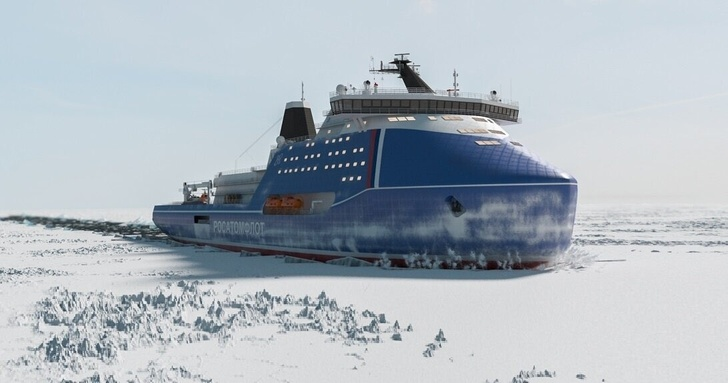 """Russia"": the Most Powerful Icebreaker in the World"