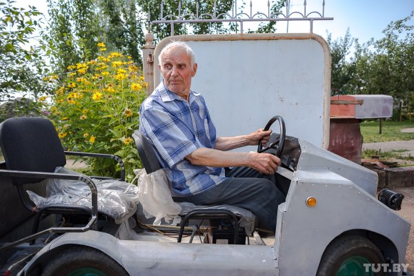 Man From Belarus Aged 87 Made His Own Electric Car