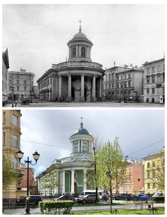 Лютеранская церковь Святой Анны.1902 и 2020 год.