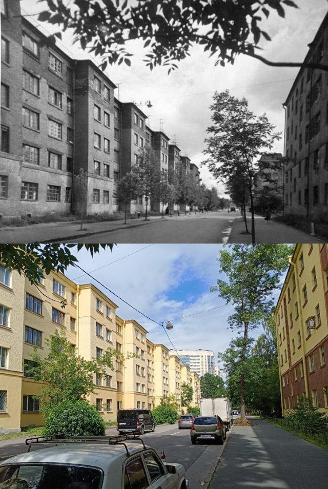 Улица Батенина/Александра Матросова1930-е и 2020 гг.