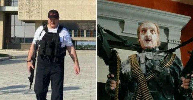 Александр Лукашенко с автоматом - герой фильмов