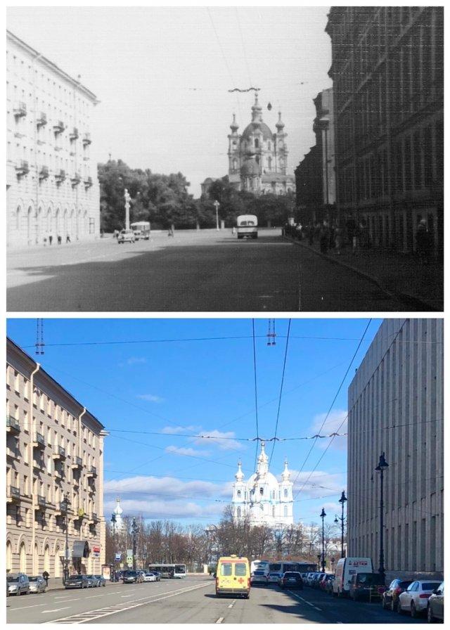 Суворовский проспект.1959 и 2020 год.