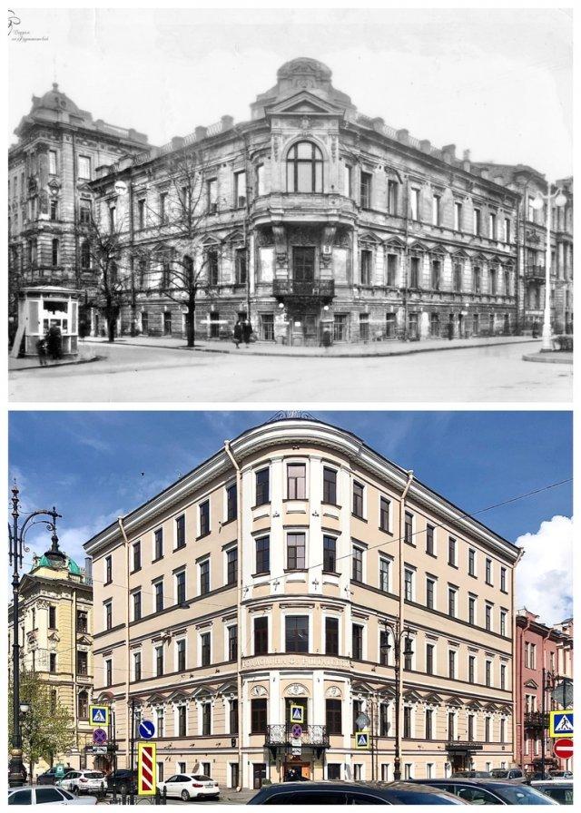 Особняк К.Л.Шуленбурга/Роддом на Фурштатской.~1950 и 2020 год.