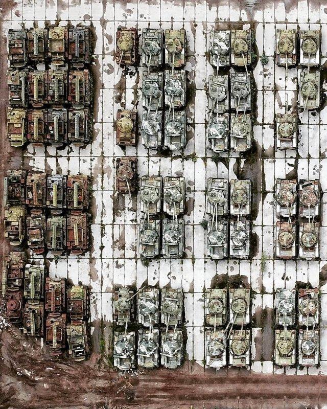 Кладбище российских танков в Сибири