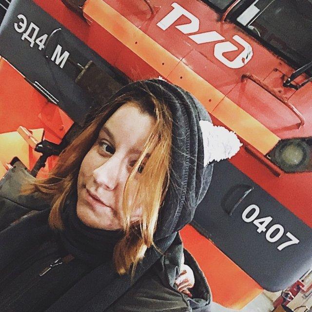 Екатерина Сергеева в депо