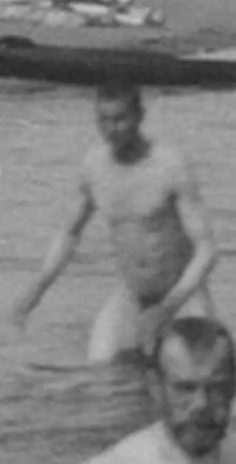 Russian Tsar. Swimming. Naked.