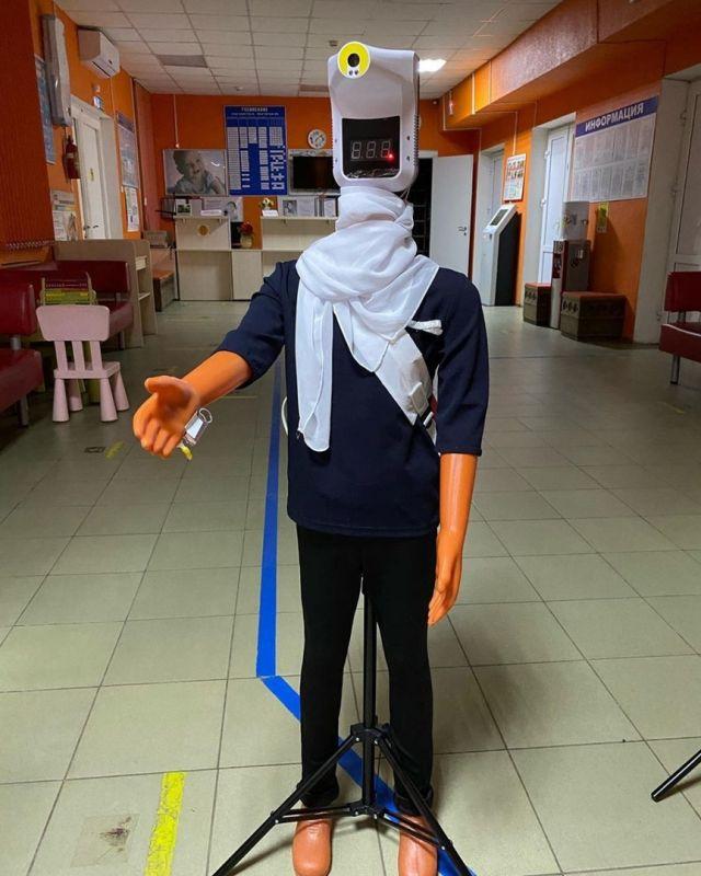 манекен в ростовской детской поликлинике