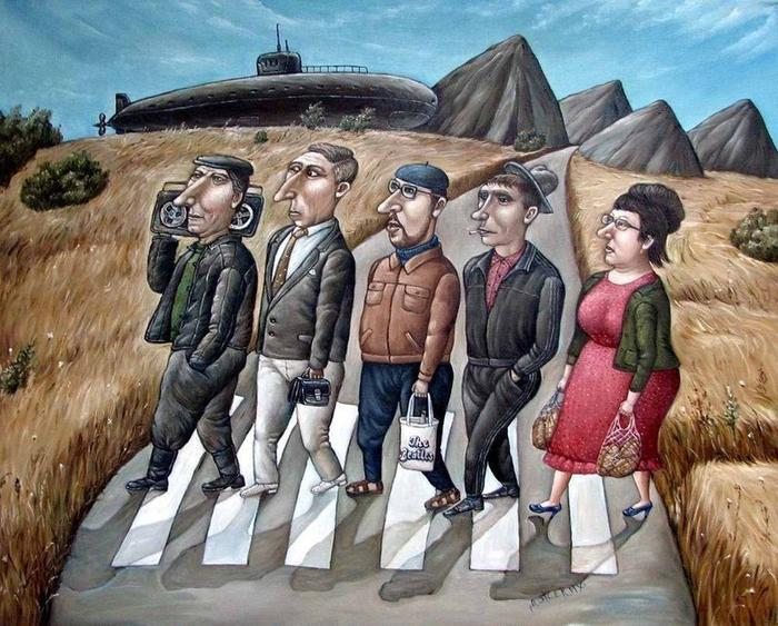 СССР на картинах Анжелы Джерих - смотреть