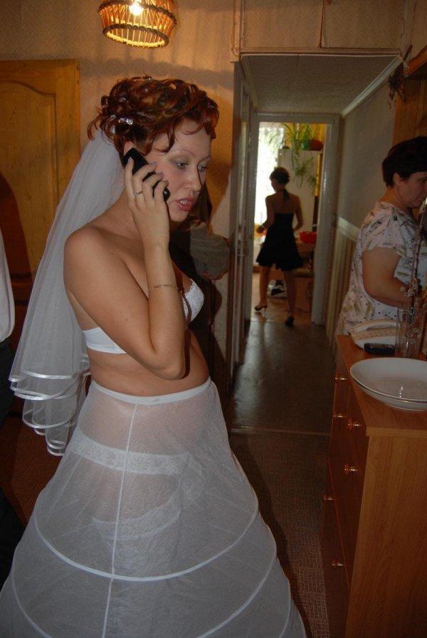 невеста переодевается