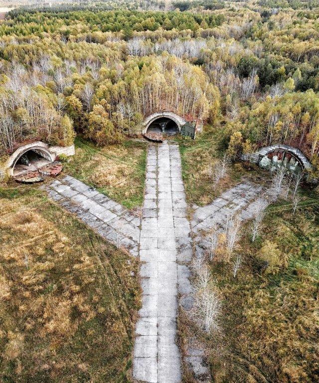 Заброшенный военный аэродром Смирных на Сахалине