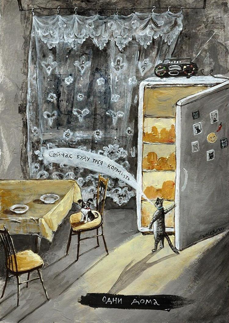 Картины Анжелы Джерих: добрая ирония в советском духе 2