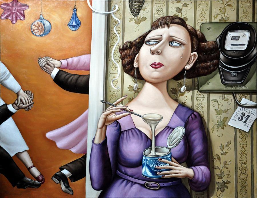 Картины Анжелы Джерих: добрая ирония в советском духе 20