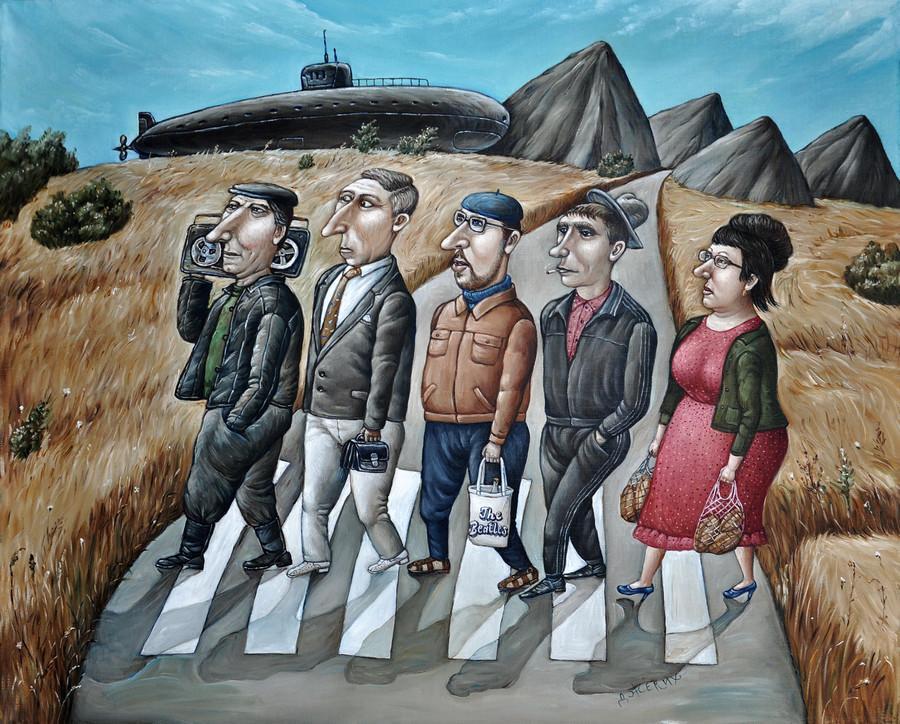 Картины Анжелы Джерих: добрая ирония в советском духе 22
