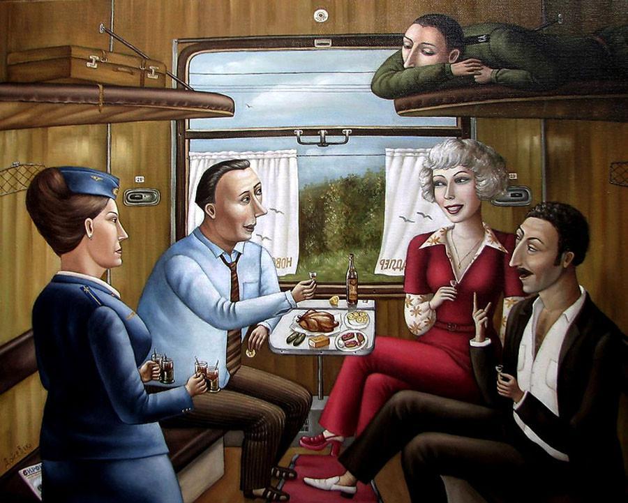 Картины Анжелы Джерих: добрая ирония в советском духе 23