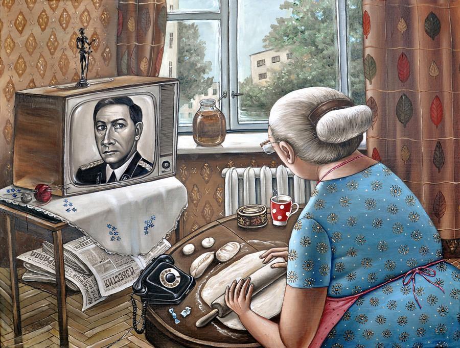 Картины Анжелы Джерих: добрая ирония в советском духе 24