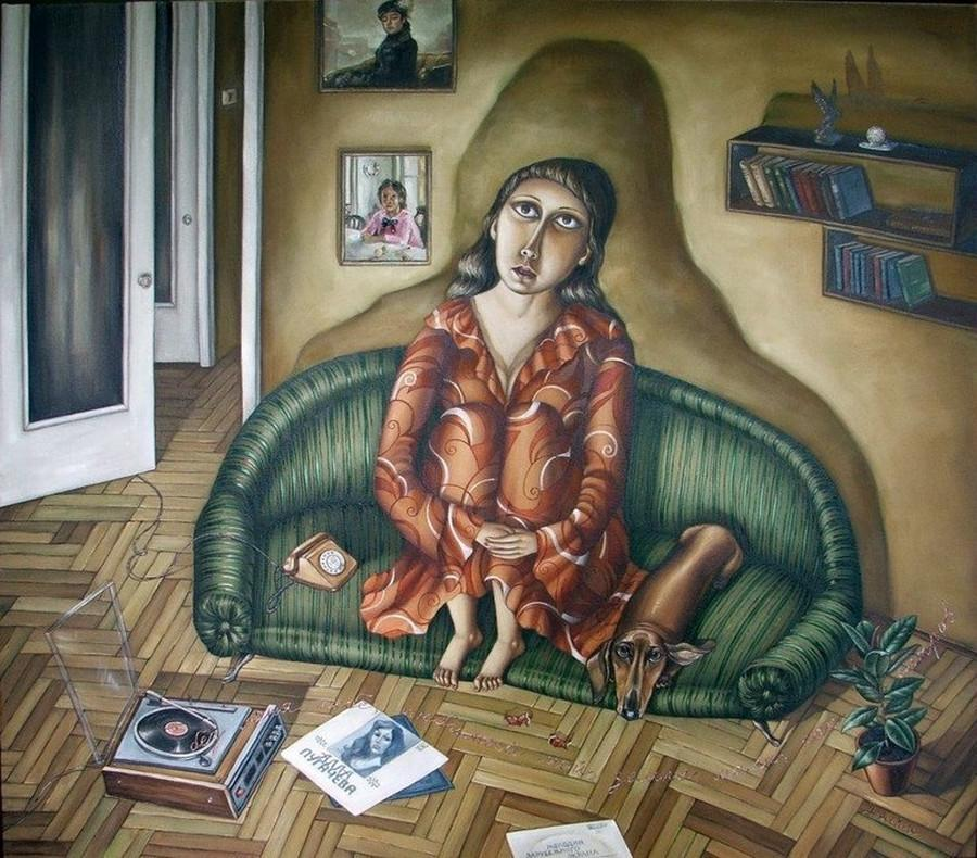 Картины Анжелы Джерих: добрая ирония в советском духе 27