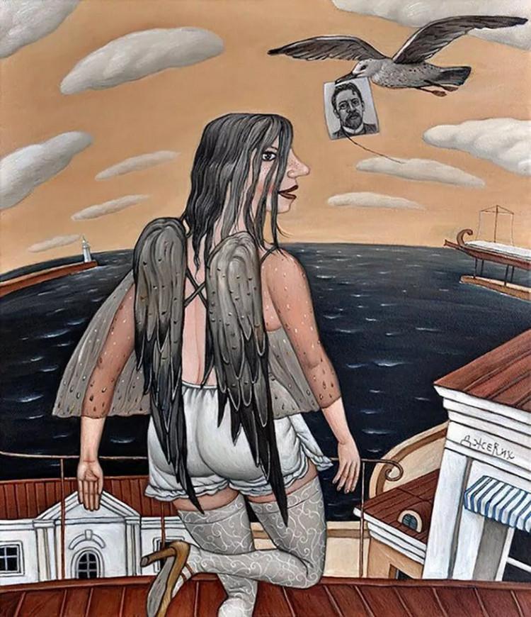 Картины Анжелы Джерих: добрая ирония в советском духе 28