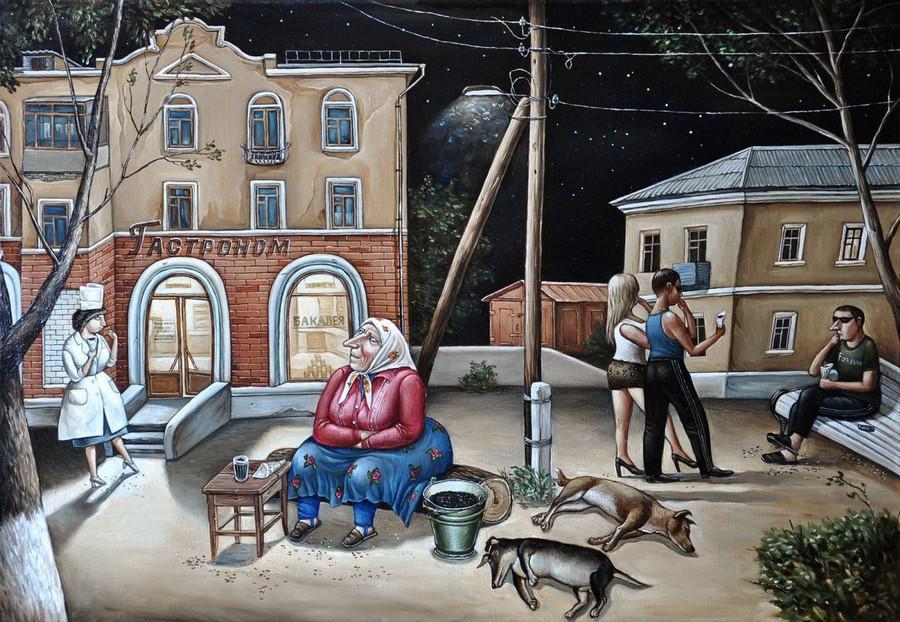 Картины Анжелы Джерих: добрая ирония в советском духе 33