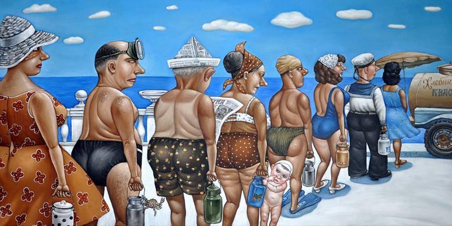Картины Анжелы Джерих: добрая ирония в советском духе 50