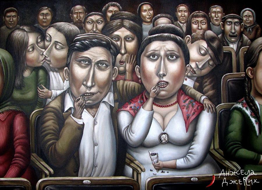 Картины Анжелы Джерих: добрая ирония в советском духе 52
