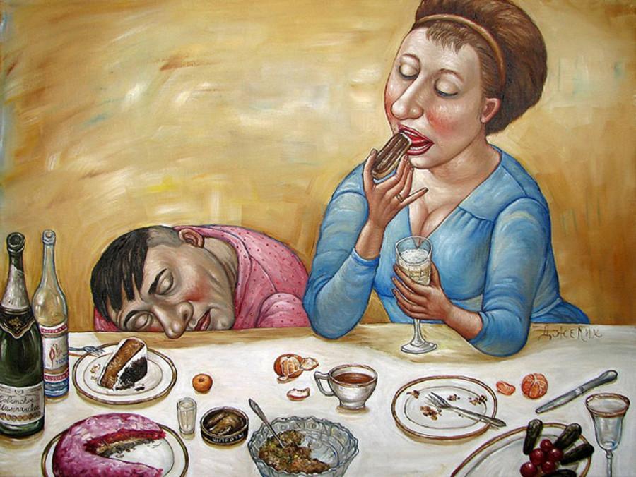 Картины Анжелы Джерих: добрая ирония в советском духе 59