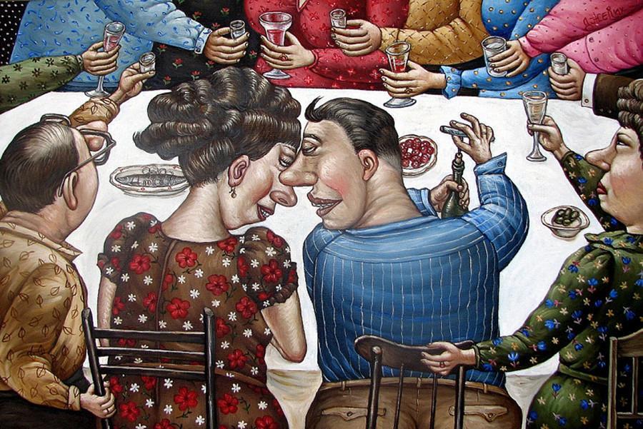 Картины Анжелы Джерих: добрая ирония в советском духе 61