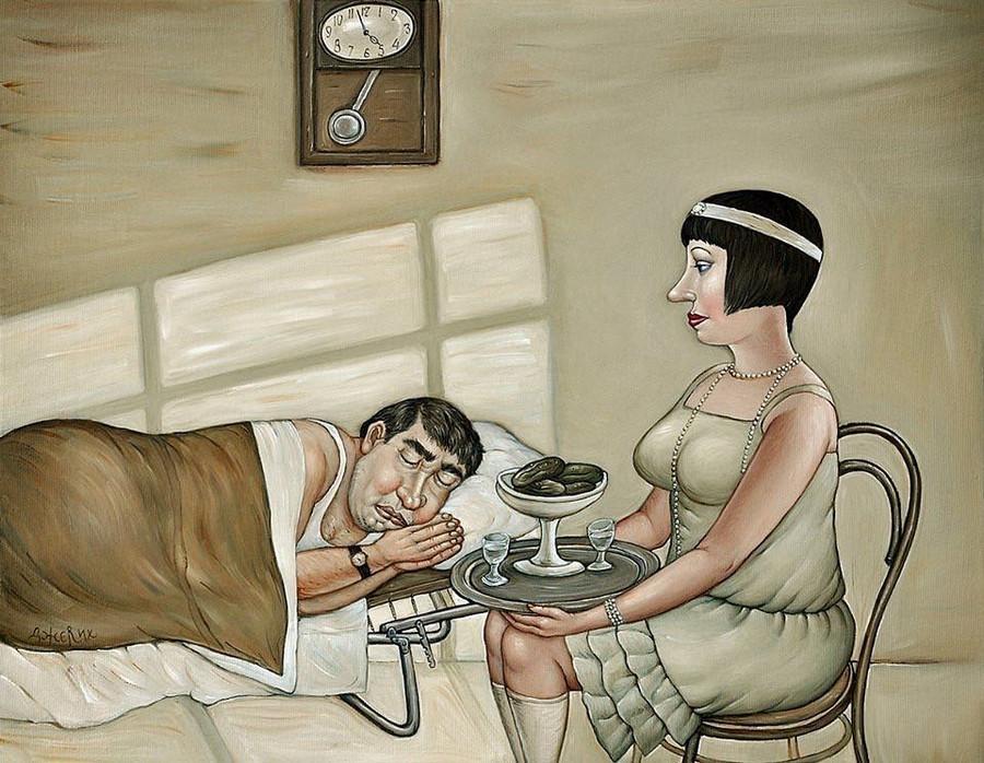 Картины Анжелы Джерих: добрая ирония в советском духе 65