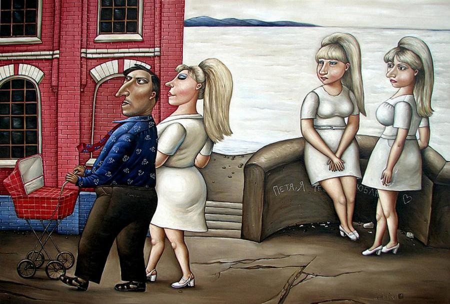 Картины Анжелы Джерих: добрая ирония в советском духе 67