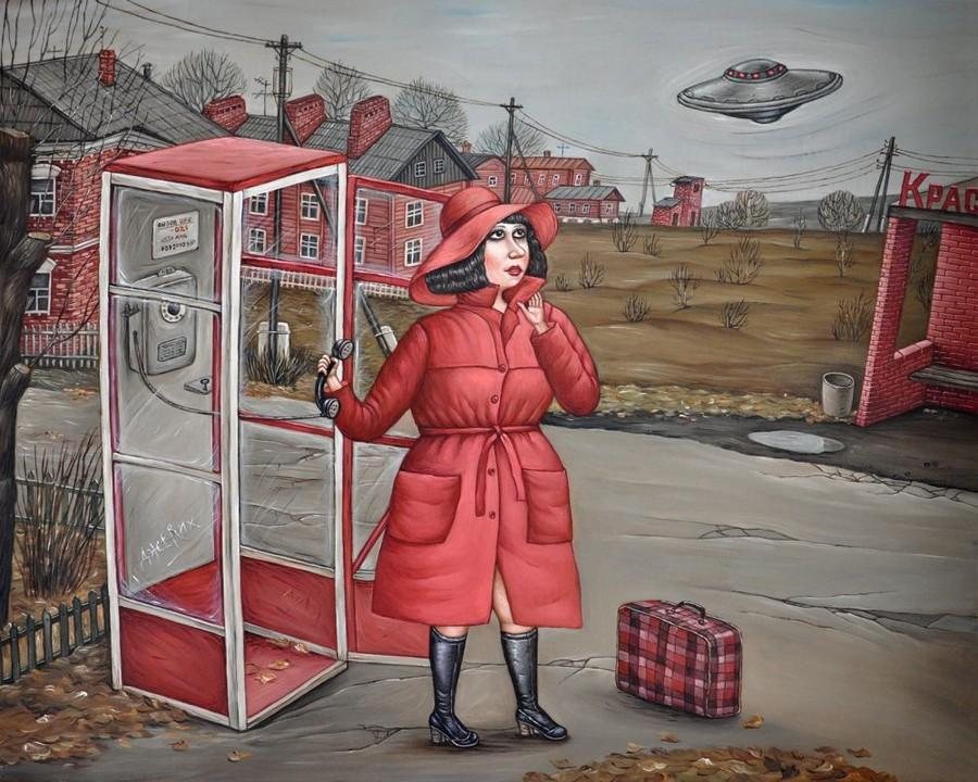 Картины Анжелы Джерих: добрая ирония в советском духе 68