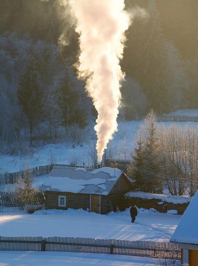 Тишина и холод в деревне