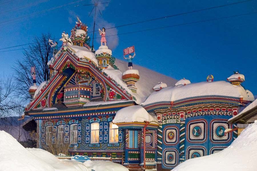 Lovely House Built by a Russian Blacksmith