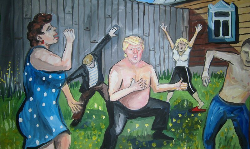 Donald Trump As an Average Russian Village Guy