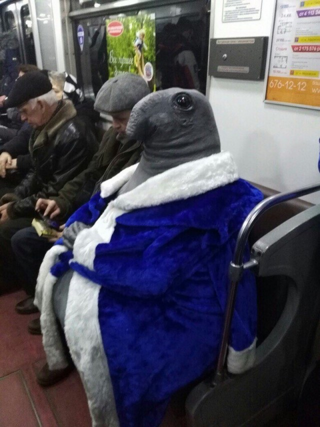 In Russian Subway These Days...