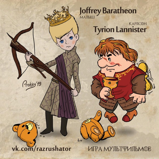 Game of Thrones Featuring Soviet Cartoon Characters