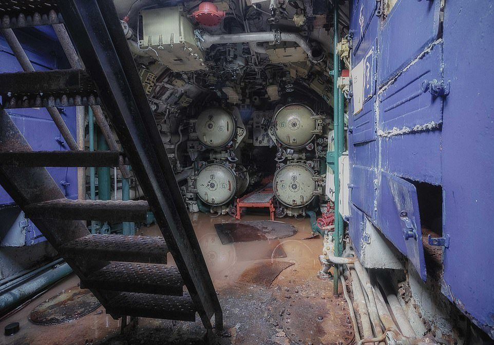 Soviet Submarine Used in the Cold War Time