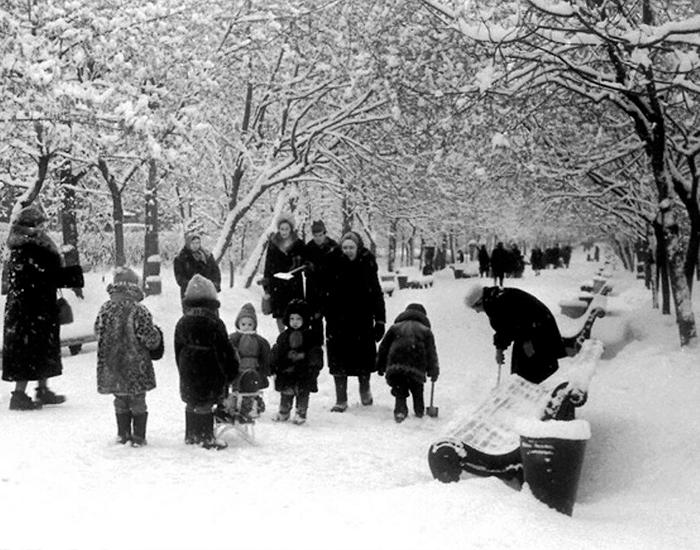 Гоголевский бульвар, 1968 год. Фото взято из открытых источников: fishki.net
