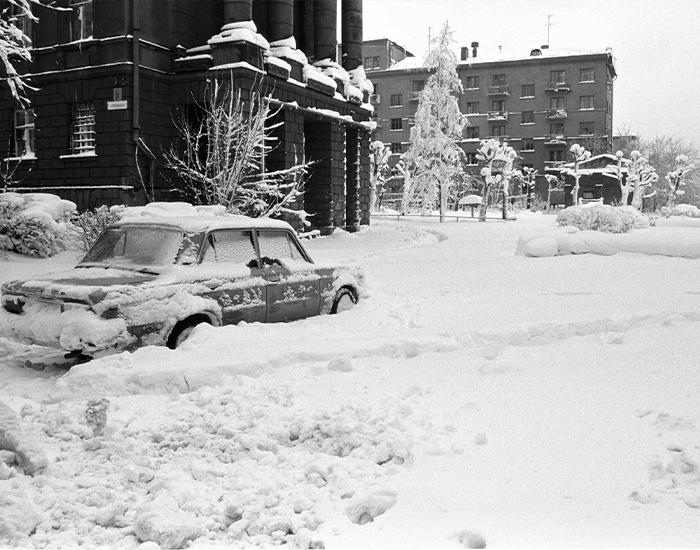 Снегопад в Свердловске, 1980-е годы. Фото взято из открытых источников: fotojoin.ru