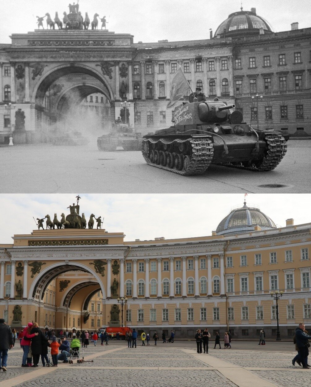 Blockaded Leningrad Vs. Saint-Petersburg of Today