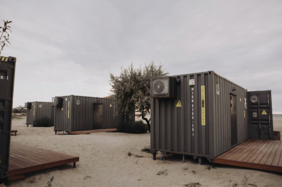 Mini Hotel to Stay in Freight Containers in Yevpatoria