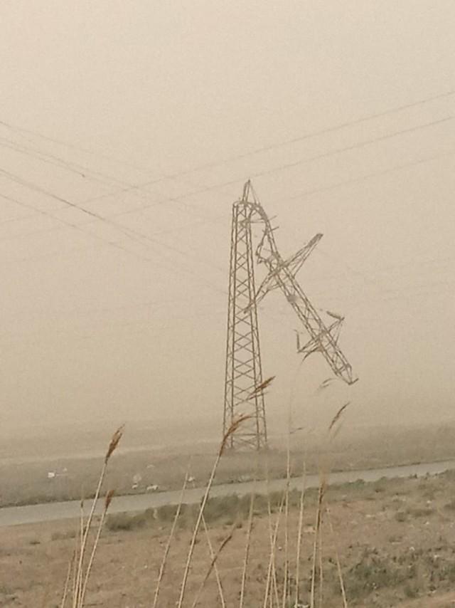 В Астрахани пыльная буря