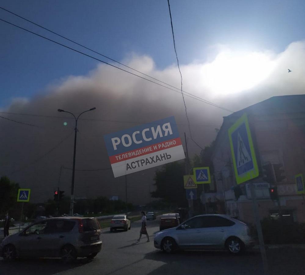 Пыльная буря в Астраханской области: подробности