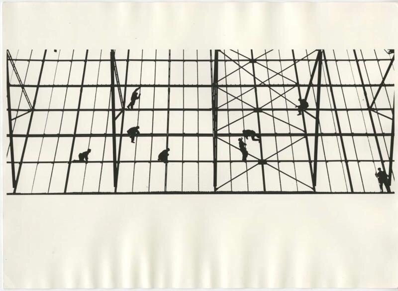 Строительство аэропорта Домодедово. Владимир Лагранж, 1960-е, Московская обл., МАММ/МДФ.