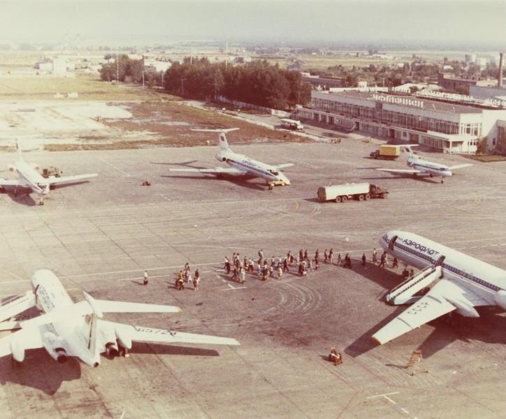 Аэропорт Челябинска. Неизвестный автор, 1970-е, г. Челябинск, МАММ/МДФ.