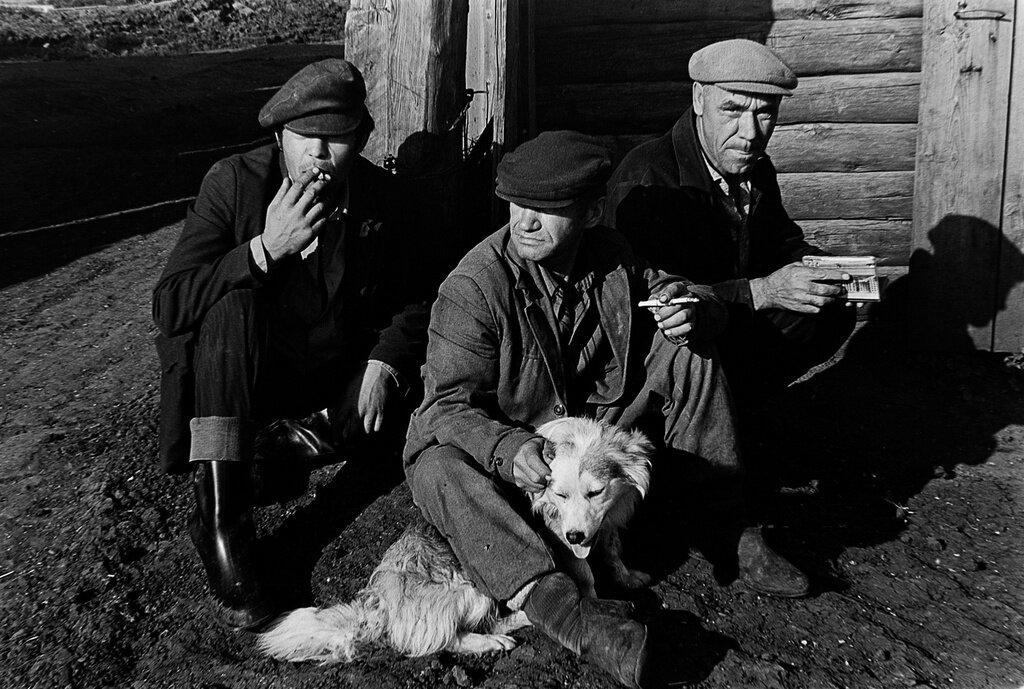 Колхозники. Рустам Мухаметзянов, 1984 год, Татарская АССР, с. Поисево, из архива Рустама Сулеймановича Мухаметзянова.